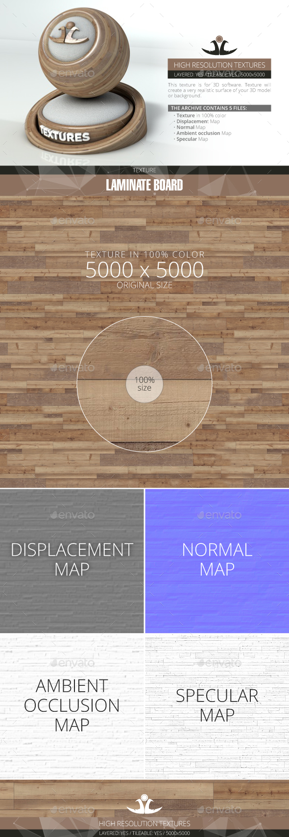 Laminate Board 89 - 3DOcean Item for Sale