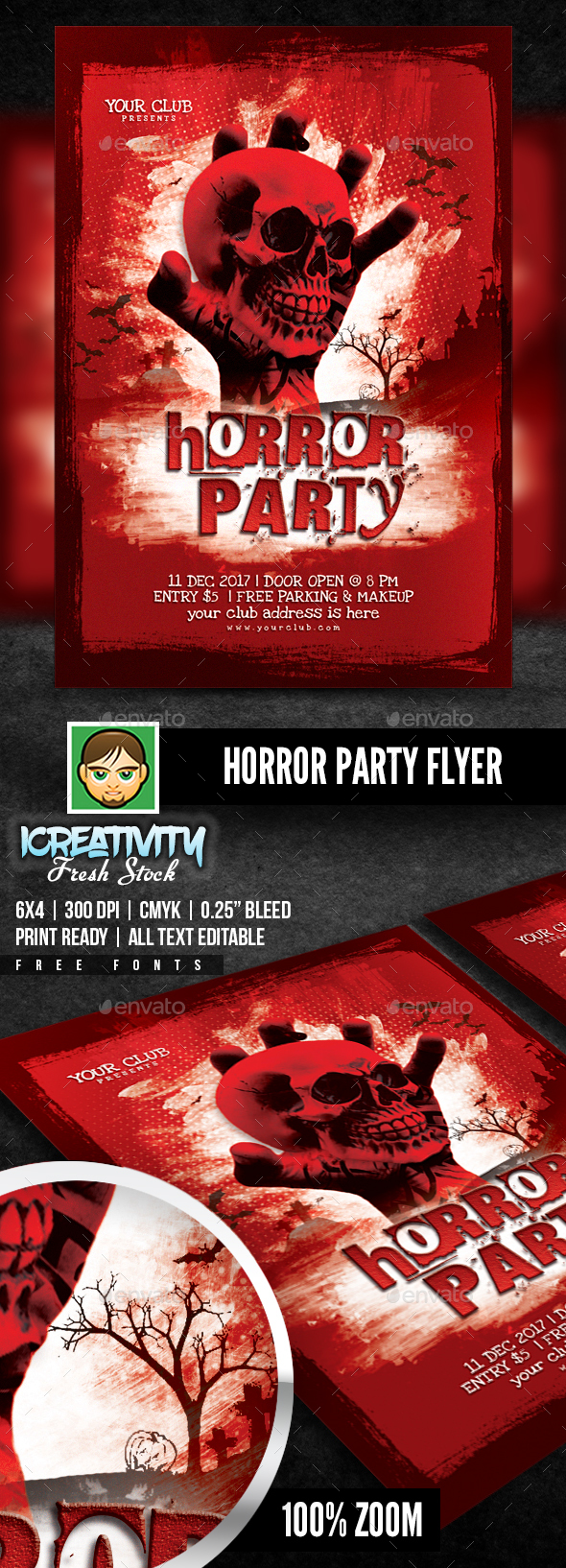 GraphicRiver Horror Party Flyer 20874799