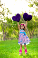 Smilinglittle girl with a heart - PhotoDune Item for Sale