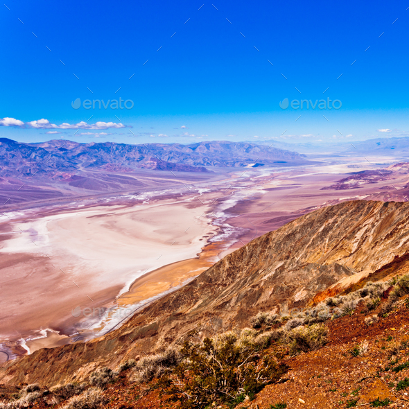 Death Valley epic landscape shot from Dantes View - Stock Photo - Images