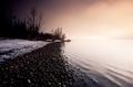 Winter landscape scene Tagish Lake lakeshore Yukon - PhotoDune Item for Sale
