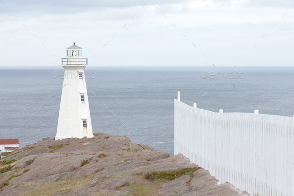New Lighthouse Cape Spear Historic Site NL Canada - Stock Photo - Images