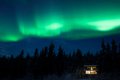 Taiga home under Northern Lights Aurora borealis - PhotoDune Item for Sale