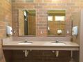 Simple clean public washroom sinks mirrors - PhotoDune Item for Sale