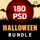 Halloween Banners Bundle - 10 Sets - 180 Banners