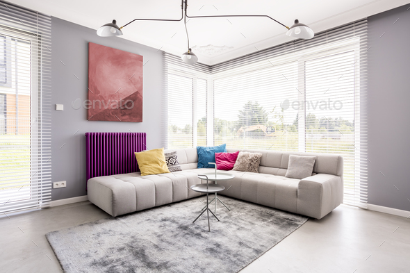 Two small tables on carpet - Stock Photo - Images