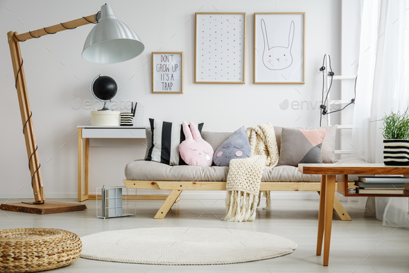 Fun living room for child - Stock Photo - Images