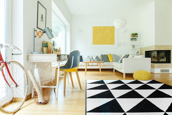 Creative open space interior - Stock Photo - Images
