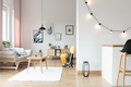 Lighting in bright living room