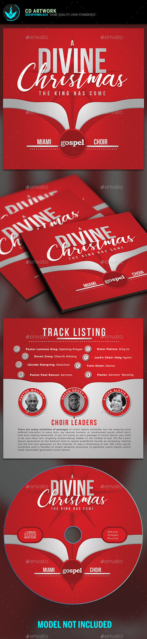 A Divine Christmas CD Template - CD & DVD Artwork Print Templates