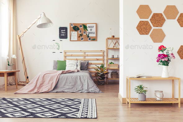 Modern nature-inspired home decor - Stock Photo - Images