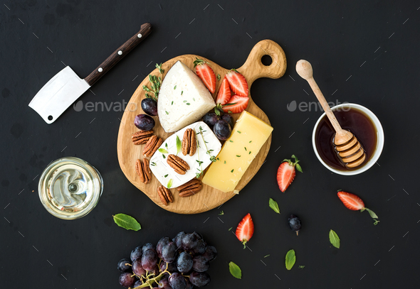 Cheese appetizer selection - Stock Photo - Images