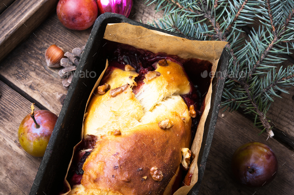 Rustic cake for Christmas - Stock Photo - Images