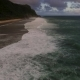 Aerial Drone Footage of Ocean Waves Breaking Before the Shore on Sunset. Bali, Indonesia - VideoHive Item for Sale