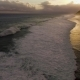 Aerial Drone  Footage of Ocean Waves on Sunset - VideoHive Item for Sale