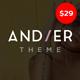 Andier - Responsive One Page & Multi Page Portfolio Theme