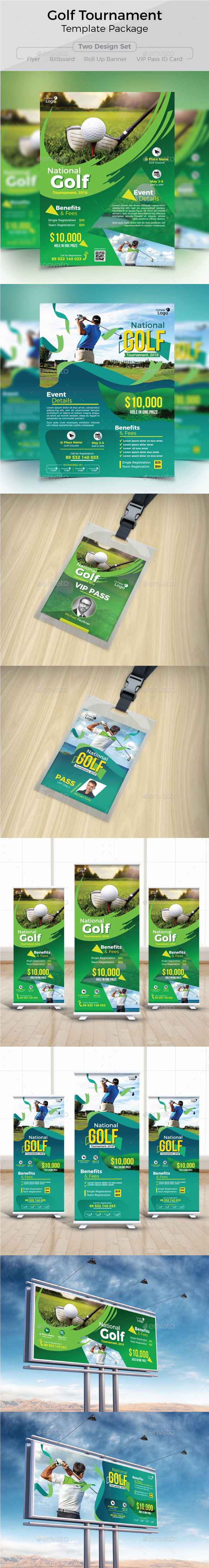 Golf Tournament Template Package - Sports Events