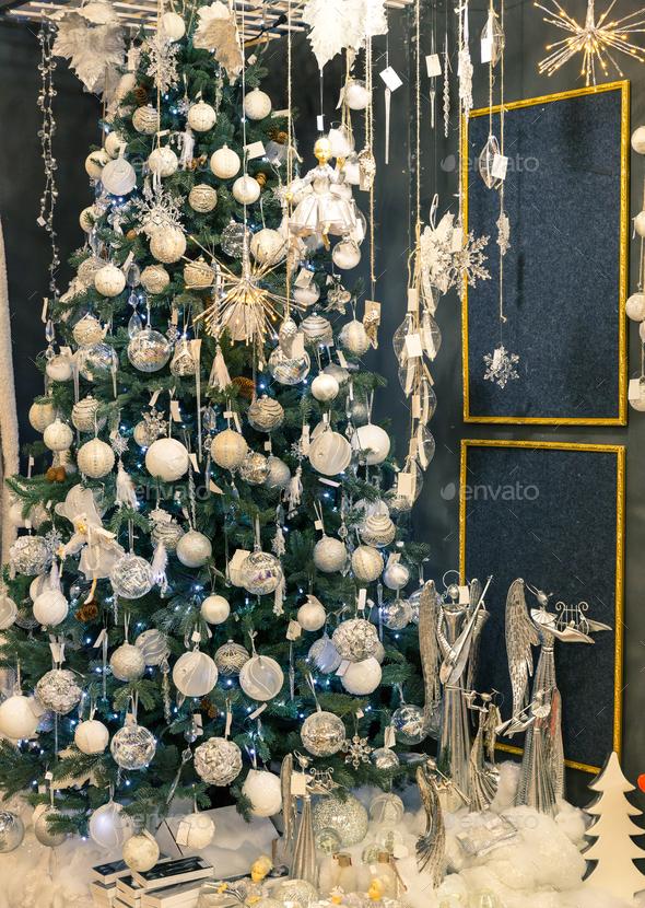 Merry christmas, beautiful xmas tree - Stock Photo - Images