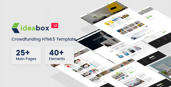 Image of Ideabox - Crowdfunding HTML5 Responsive Template