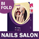 Nails Salon Bifold / Halffold Brochure