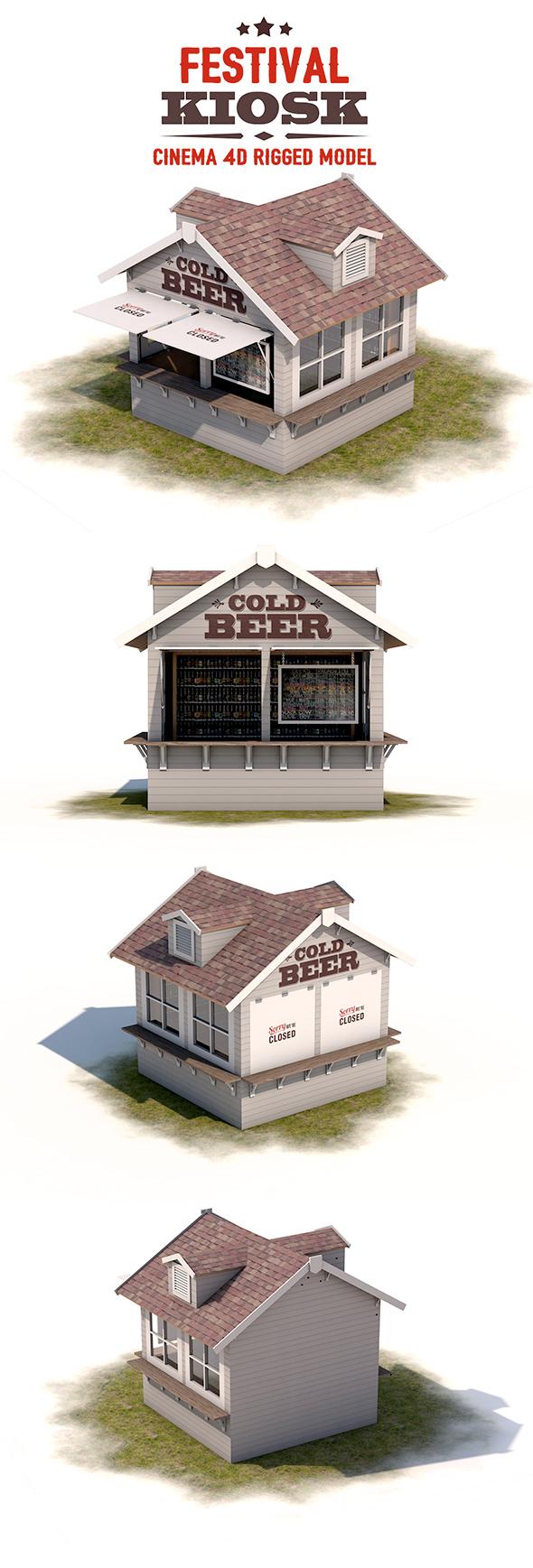 Festival Kiosk - 3DOcean Item for Sale