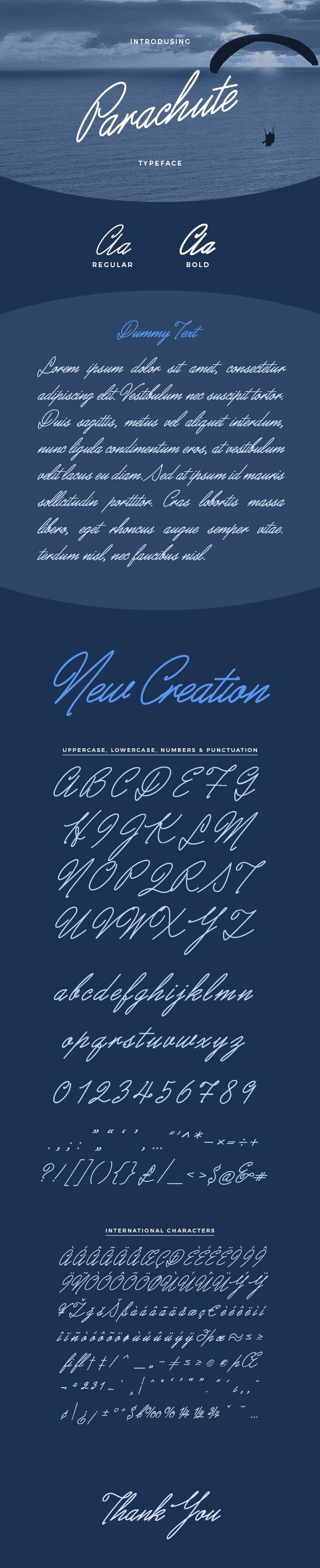 Parachute Typeface - Calligraphy Script