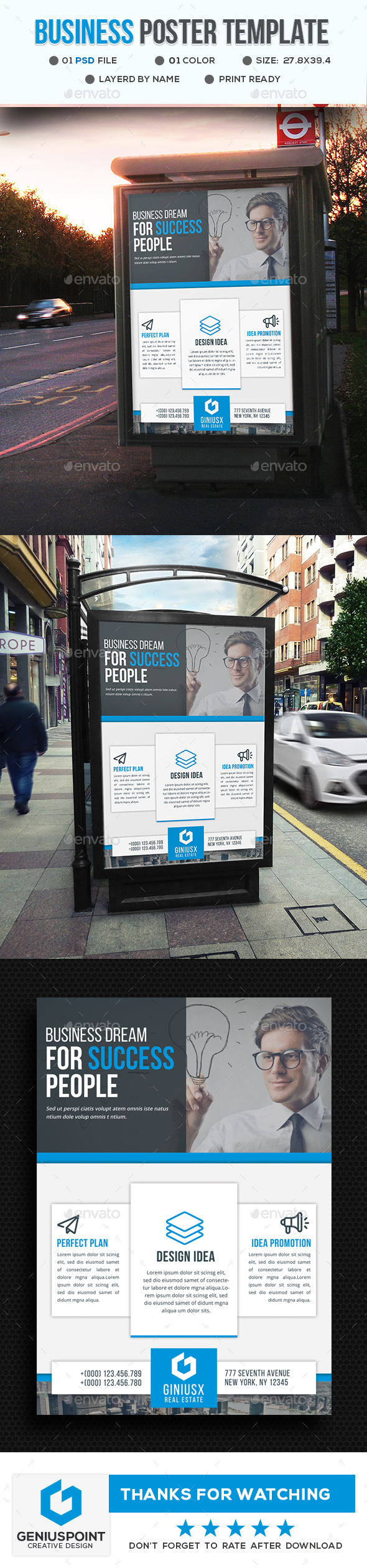 GraphicRiver Corporate Poster Template 20875910
