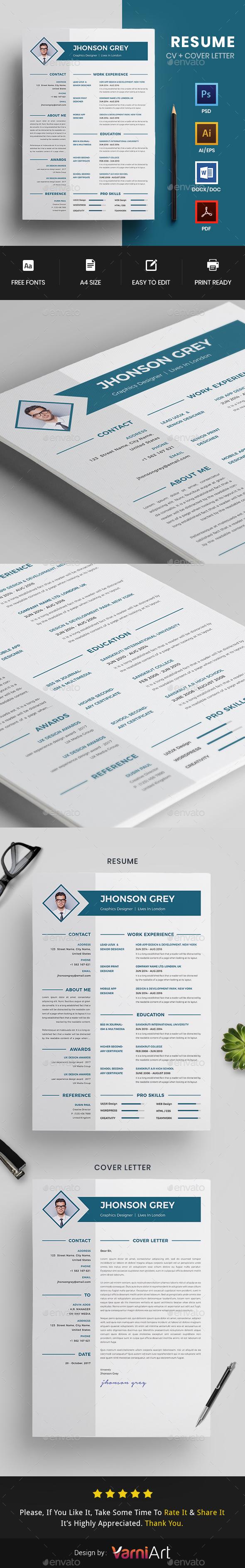 GraphicRiver CV Resume 20875914