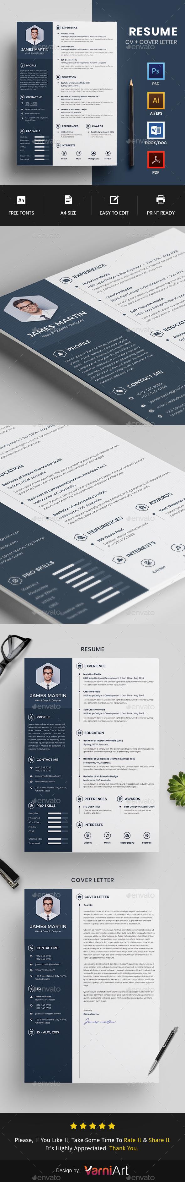 GraphicRiver Resume CV 20875943