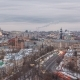 Moscow City Russia Skyline Aerial Panoramic Day To Night  Urban Winter Snow Scener - VideoHive Item for Sale