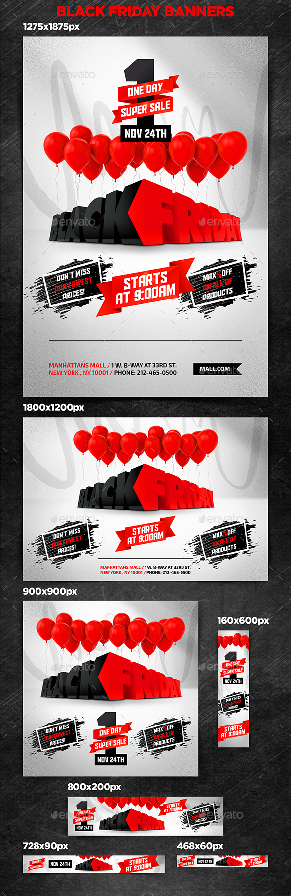 GraphicRiver Black Friday Banners 20876044
