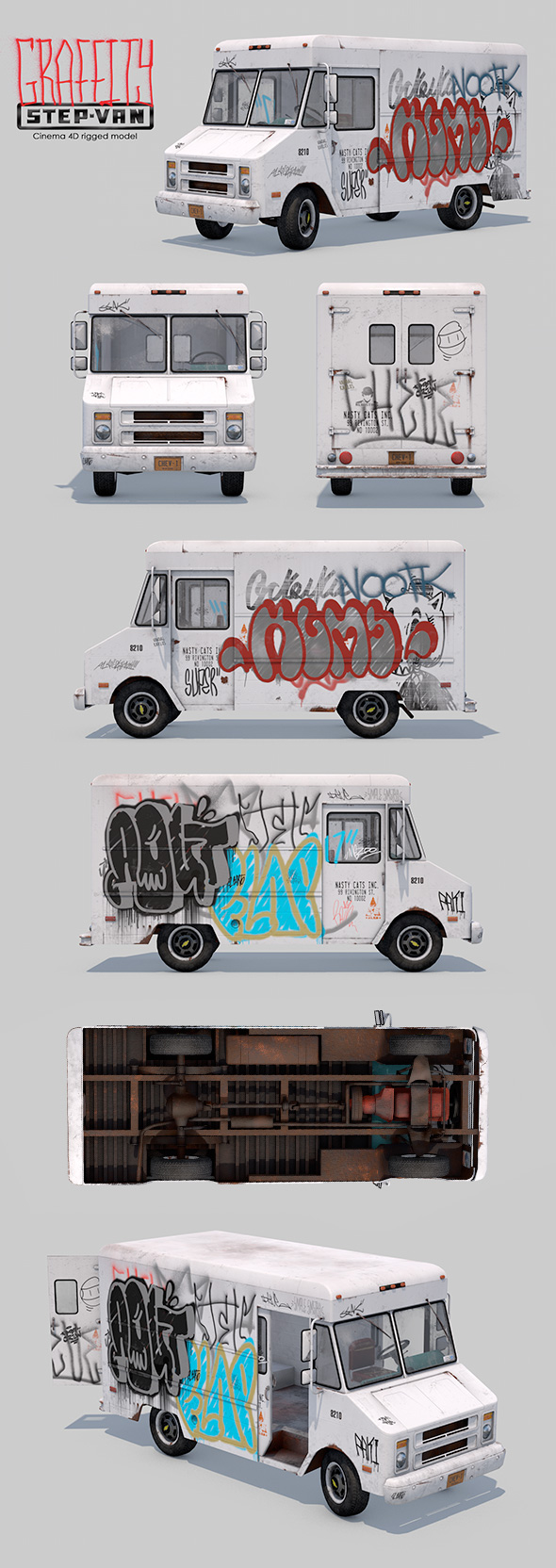 3DOcean Graffity Step-Van Rigged 20876200