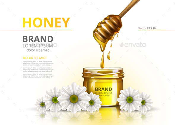 GraphicRiver Realistic Honey Jar Mockup 20876346