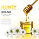 Realistic Honey Jar Mockup
