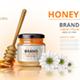 Realistic Acacia Honey Jar Mockup