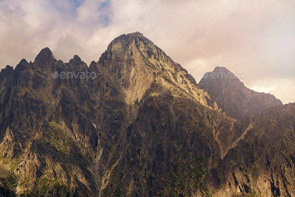 View on Lomnicky Stit in high Tatra Mountains - Stock Photo - Images