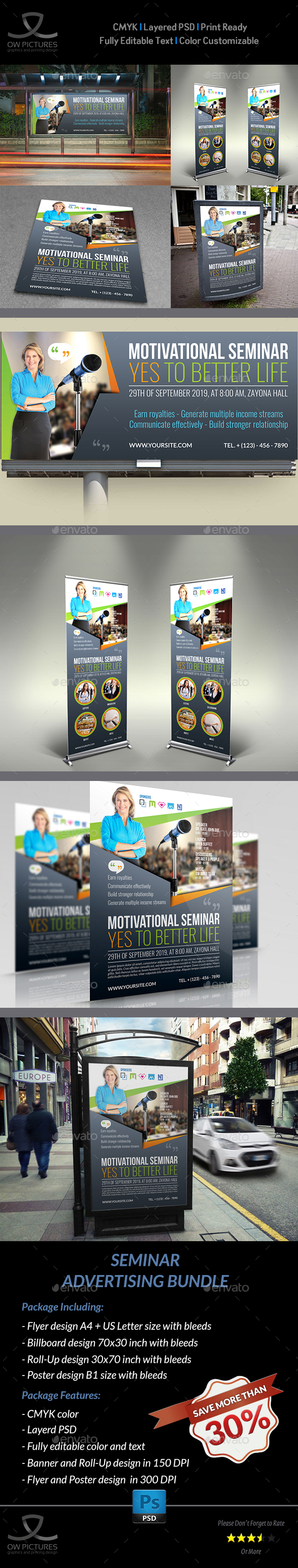 GraphicRiver Seminar Advertising Bundle 20876660