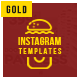 10 Instagram Templates for Restaurant - GraphicRiver Item for Sale