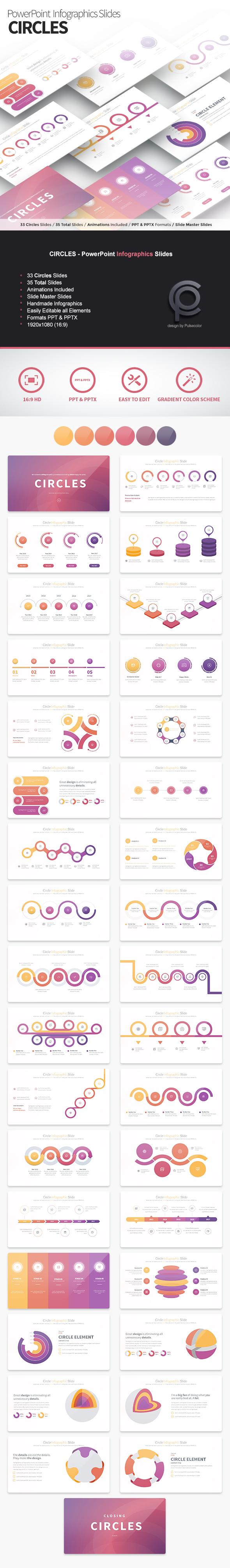 CIRCLES - PowerPoint Infographics Slides - PowerPoint Templates Presentation Templates
