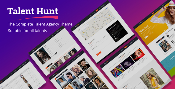 Talent Hunt - WordPress Theme for Model Talent Management Services