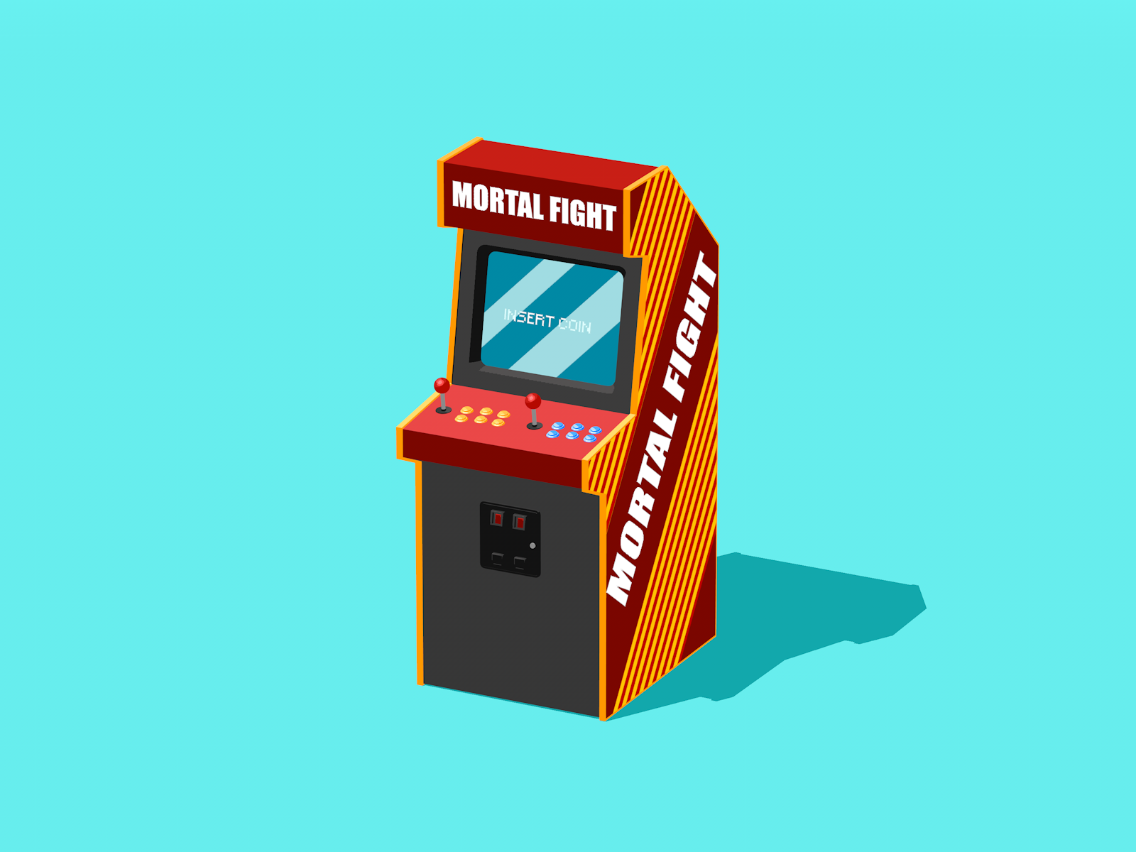 Arcade Machine Sketch Amp Toon By Ag4t 3docean