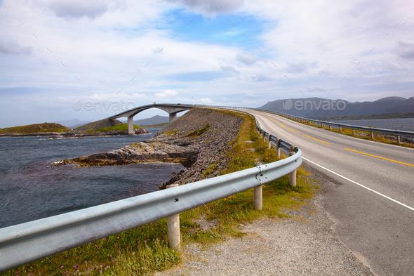 Bridge on Atlantic road Norway - Stock Photo - Images