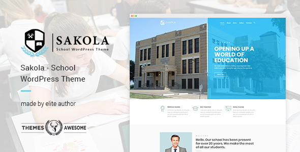 Sakola | School WordPress Theme - Education WordPress