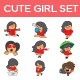 Playful Girl Set - GraphicRiver Item for Sale