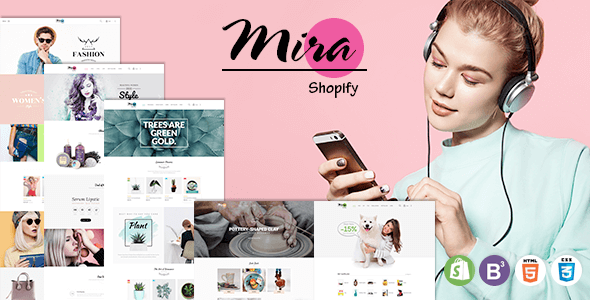 Image of Mira - Responsive Sectioned Shopify Theme for Fashion, Cosmetic, Plant, Pottery and Pet Store
