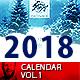 2018 - 2017 Calendar Minimal Wall Infinite Vol.1