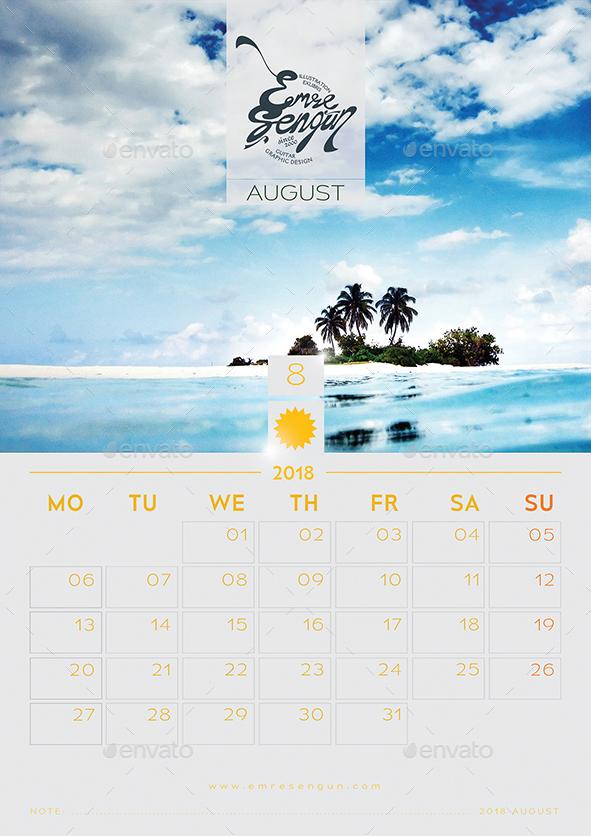 2018 - 2017 Calendar Minimal Wall Infinite Vol.1 by ...