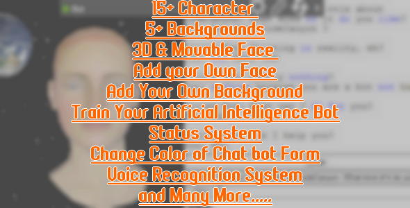 CodeCanyon Artificial Intelligence 3D Chatbot 20860546