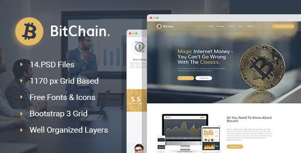 BitChain - Bitcoin PSD template - Business Corporate