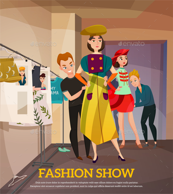 Fashion Show Backstage Illustration - Business Conceptual